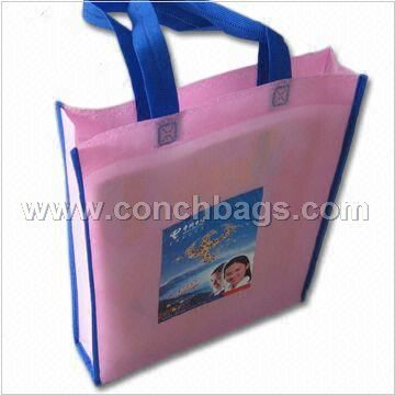 2-color Printed Non-woven Bag, Suitable for Shopping and Advertisement Purposes