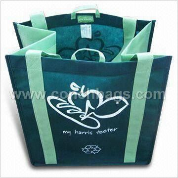 Non woven Bag with Long Handle, Water-resistant and Re-cyclable