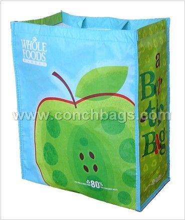 Recycle tote PET carrier bag