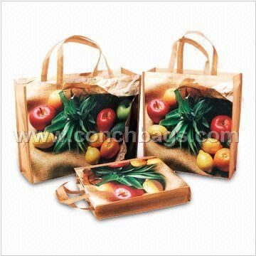 Shopping Bags, Made of PET Nonwoven Fabric