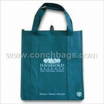 Eco-friendly Nonwoven Shopping Bag with Silkscreen Printing