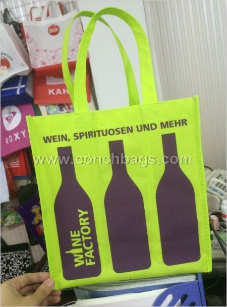 Six bottles wine non-woven bag by 100gsm non-woven fabric